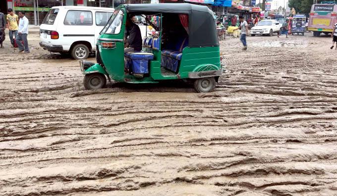জগন্নাথপুর পৌর শহরে ভয়াবহ কাঁদা: জন ভোগান্তি চরমে