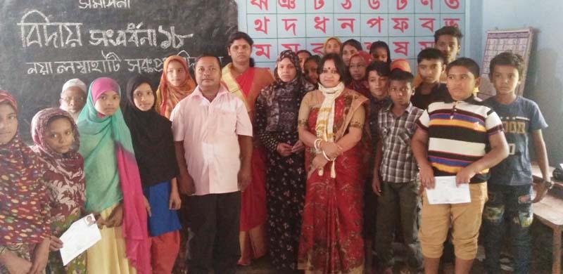 ছাতকের নয়া লম্বাহাটি স্কুলেবিদায়ী অনুষ্ঠান