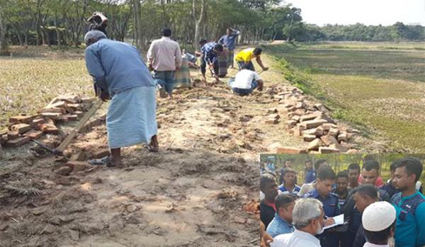 বিশ্বনাথে দু'পক্ষের উত্তেজনায় উন্নয়ন কাজে বাধা : বেকায়দায় ঠিকাদার