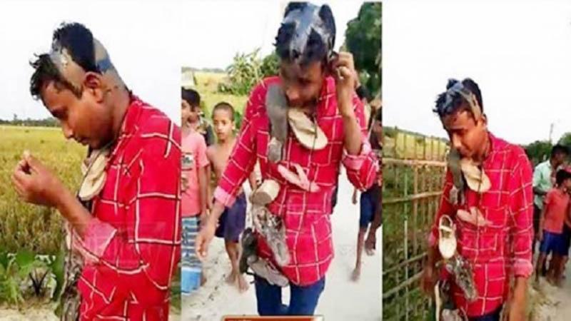 স্কুল ছাত্রীকে ধর্ষণের চেষ্টা, যুবকের মাথা ন্যাড়া করে জুতোর মালা