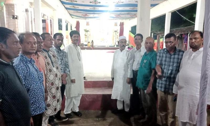 গোয়াইনঘাটে পূজা মন্ডপ পরিদর্শনে আব্দুল হাকিম চৌধুরীসহ জনপ্রতিনিধিরা: ৫লক্ষ টাকা বরাদ্দ