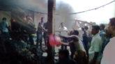 জকিগঞ্জের কালীগঞ্জ বাজারে অগ্নিকাণ্ডে ৪টি গুদাম ভস্মীভূত
