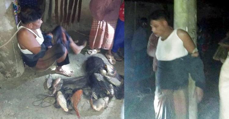 মাছ চুরির দায়ে মেম্বারকে সারারাত খুঁটির সঙ্গে বেঁধে রাখল গ্রামবাসী