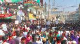 কাজ চাই, ভাত চাই-পাথর কোয়ারী সচল চাই : স্লোগানে মুখরিত জাফলং
