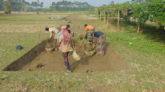 কান্দিগাঁওয়ে সুরমা খেকে অবৈধভাবে মাটি উত্তলনের অভিযোগ