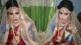 ময়মনসিংহে যমজ বোনের সঙ্গে যমজ ভাইয়ের বিয়ে