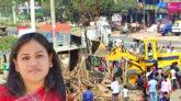 সিলেট-ঢাকা মহাসড়কে জমি দখল করে দোকানপাট, ইউএনও'র উচ্ছেদ অভিযান