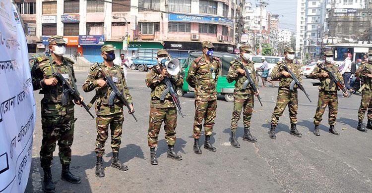 জেলা-উপজেলায় টহলে সেনাবাহিনী