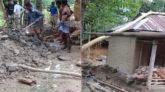 কানাইঘাটে নিরীহ পরিবারের বসত বাড়ি থেকে গাছপালা কেটে একাংশ দখলের অভিযোগ