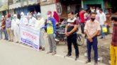 সুনামগঞ্জে সাংবাদিক মাহতাব উদ্দিনের মুক্তির দাবীতে মানববন্ধন