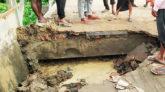 জগন্নাথপুর-রাণীগঞ্জ সড়কে যানবাহন চলাচল বন্ধ