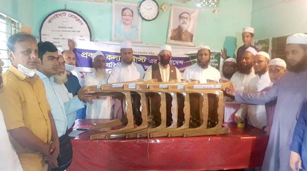 কানাইঘাট প্রেসক্লাবে প্রবাসী সংগঠনের চেয়ার প্রদান