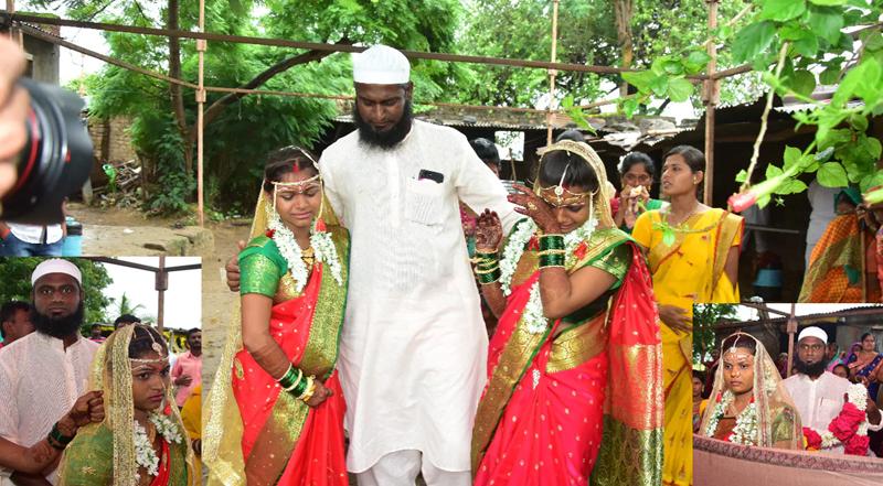 সম্প্রীতির নজির, সব দায়িত্ব কাঁধে নিয়ে দুই হিন্দু মেয়েকে বিয়ে দিলেন মুসলিম 'মামা'