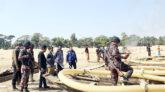 ভোলাগঞ্জ পাথর কোয়ারীতে অবৈধ পাথর উত্তোলন: টাস্কফোর্সের অভিযান