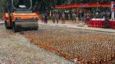 সিলেটে ১০ কোটি ৭৬ লাখ টাকার মাদক দ্রব্য ধ্বংস করলো বিজিবি