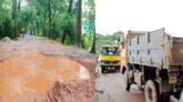পাথর বোঝাই ট্রাক চলাচল: সালুটিকর থেকে গোয়াইনঘাট সড়কে 'মৃত্যুফাঁদ