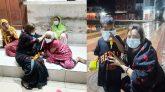 বৃষ্টির মধ্যে খাবার নিয়ে অসহায়-ক্ষুধার্ত ও সুবিধাবঞ্চিত মানুষের পাশে জাপা নেত্রী শিউলি