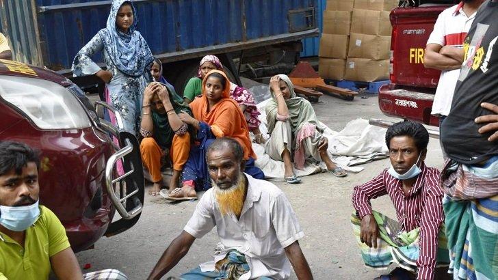নারায়ণগঞ্জে কারখানায় আগুনে পুড়ে ৫২ জনের প্রাণহানি